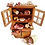 Thumbnail: Miniature food salami cheese meat scale 1:12