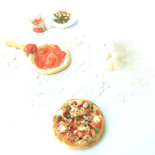 1:12 scale dollhouse miniature food pizza