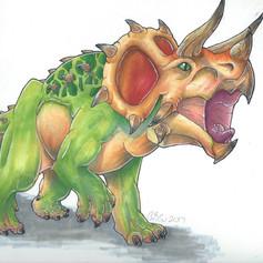 Triceratops Illustation