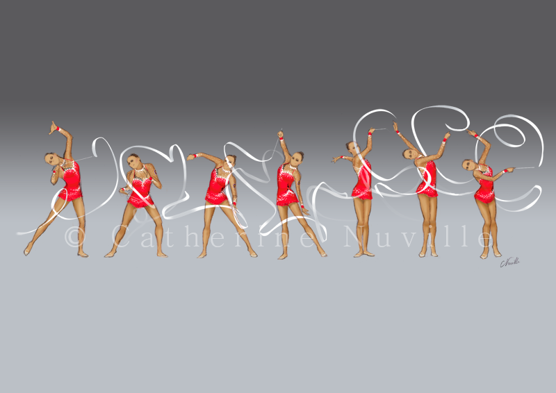 Dessin Catherine Nuville, Marina Shpekht ribbon 2009, Marina Shpekht dessin, Marina Shpekht drawing, dessin gymnastique rythmique, rhythmic gymnastics drawing, rhythmic drawing, dessin gymnaste, gymnast drawing, rg sketches, rg art, rhythmic sketches, croquis gymnastique, croquis mouvement, gymnaste au ruban, rhythmic gymnast with ribbon
