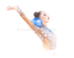 Melitina Staniouta, gymnast, profil, bautiful gymnast with blue ball