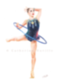 Dessin Salome Pazhava, Salome Pazhava drawing, dessin gymnastique rythmique, dessin de gymnaste, rhythmic gymnastics drawing, rhythmic drawing, gymnast expression, gymnast expressivity, gymnaste au cerceau, gymnast with hoop, dessin au crayon de couleur, pencil color drawing