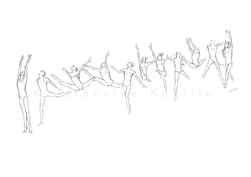 Dessin Catherine Nuville, Natalya Godunko sketch, Natalya Godunko dessin, Natalya Godunko drawing, gymnastique rythmique dessin, rhythmic gymnastics drawing, rg sketches, rg art