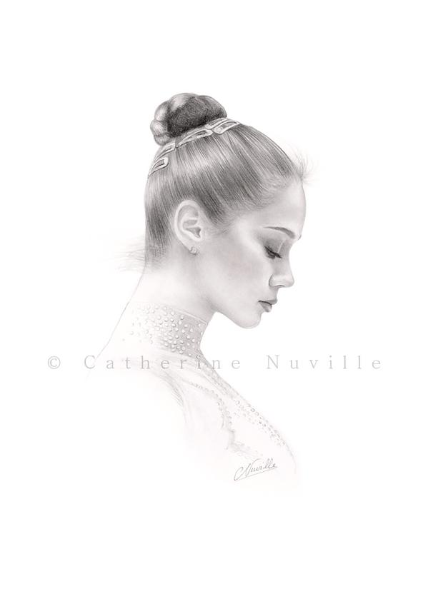 Irina Tchachina portrait drawing