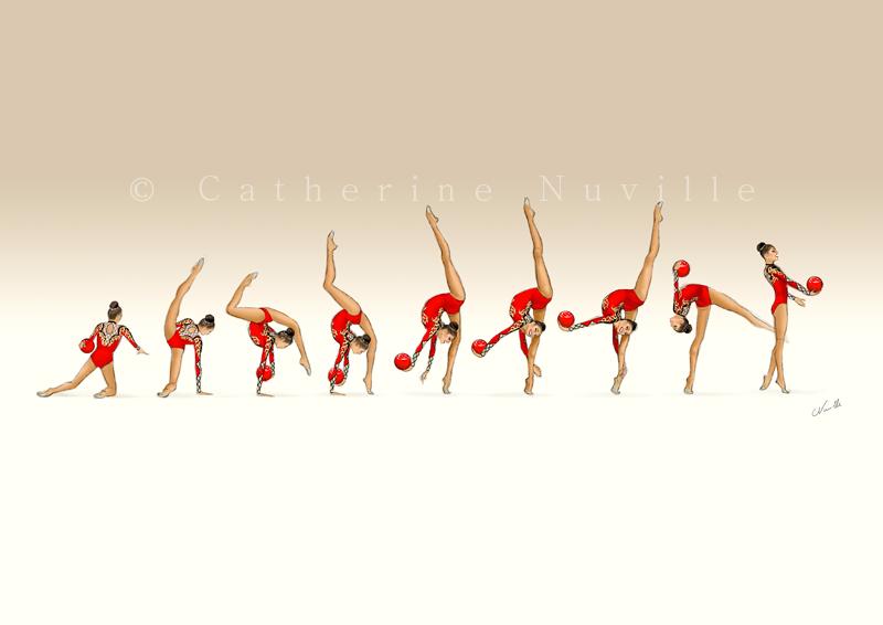 Alina Kabaeva ball 1999, Alina Kabaeva dessin, Alina Kabaeva drawing, Dessin gymnastique rythmique, rhythmic gymnastics drawing, rhythmic drawing, dessin gymnaste, gymnast drawing, rg sketches, rg art, rhythmic sketches, croquis gymnastique, croquis mouvement, gymnaste au ballon, rhythmic gymnast with ball