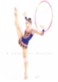 Dessin Irina Tchachina, Irina Tchachina drawing, dessin de gymnaste, rhythmic gymnastics drawing, rhythmic drawing, gymnaste visage, gymnaste regard, gymnast face, gymnast look, gymnast expression, gymnast expressivity, gymnaste avec un cerceau, gymnast with a hoop, dessin au crayon de couleur, pencil color drawing