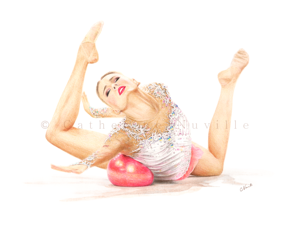Nicol Ruprecht dessin, Nicol Ruprecht portrait, portrait de gymnaste