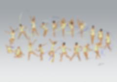 Dessin Catherine Nuville, Salome Pazhavaribbon 2017, Salome Pazhava dessin, Salome Pazhava drawing, dessin gymnastique rythmique, rhythmic gymnastics drawing, rhythmic drawing, dessin gymnaste, gymnast drawing, rg sketches, rg art, rhythmic sketches, croquis gymnastique, croquis mouvement, gymnaste au ruban, rhythmic gymnast with ribbon
