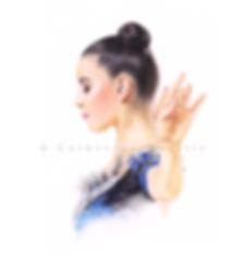 Alessia Maurelli by Catherine Nuville, Alessia Maurelli drawing, portrait de gymnaste, dessin de gymnaste, rhythmic gymnastics drawing, rhythmic drawing, gymnaste visage, Alessia Maurelli  disegno