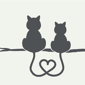 tatouage-symboles-amours-avec-2-chats-as
