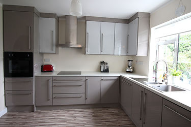 A sleek modern kitchen in grey installed in Carlow