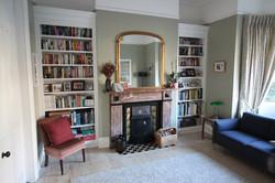 Bookcases in a period home in Dublin