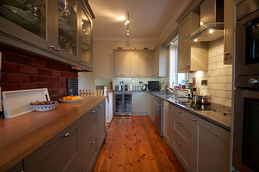 Grey hand painted kitchen in Wicklow