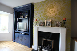 TV Unit in bold blue
