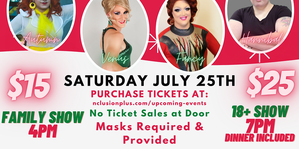 Drag2Nite - LIVE! Xmas in July (Family Show) $15