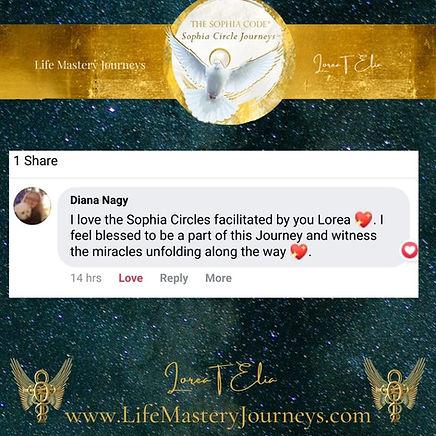 Copy of Copy of sophiagrace2 on sophia circle journey1st day lorea elia lifemasteryjourney