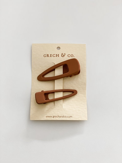 Hairclips Grech & Co - Rust