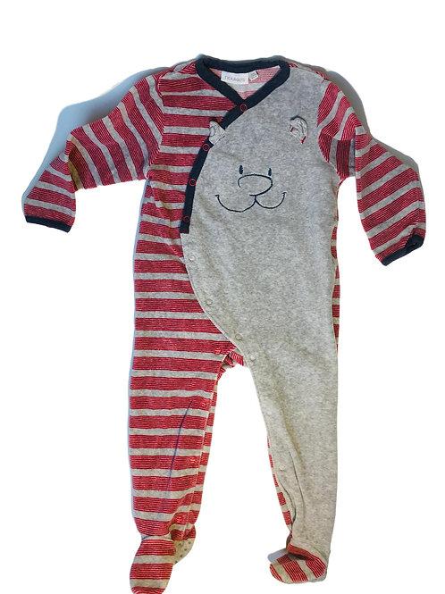 Pyjama grijs/rood - Nookie's (artikel 415)
