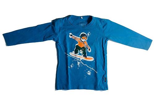 T-shirt lange mouwen blauw met skateboard - Name it (artikel 811)