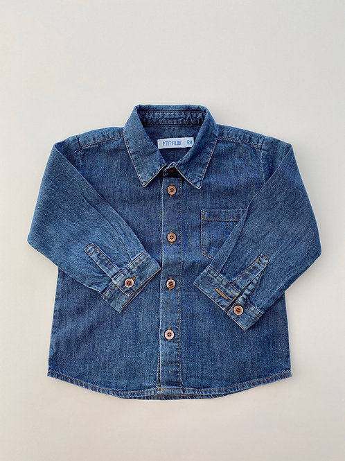 Hemd jeans - Filou & Friends - 80 (105.8)