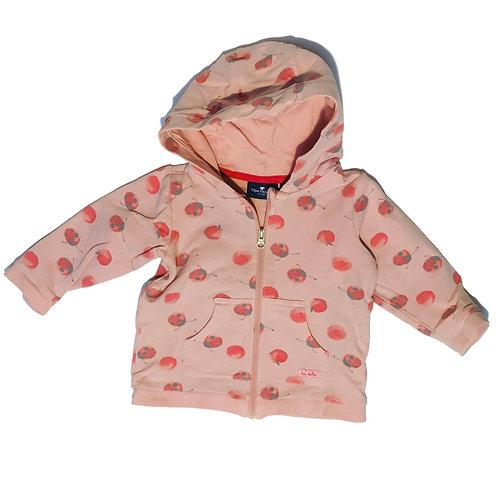 Hoodie roze met lieveheersbeestjes - Tom and Tailor (artikelnr 311)