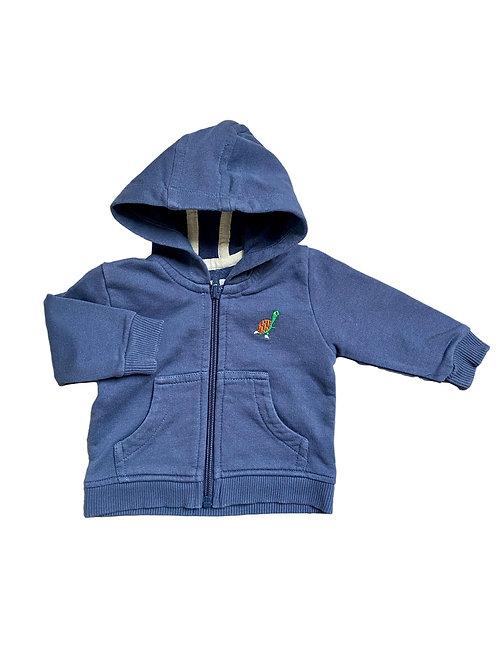 Hoodie blauw - Filou & Friends - 62 (91.39)