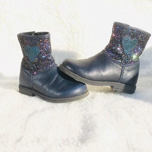 Blauwe laarsjes met glitter - Freeby (artikel 379)