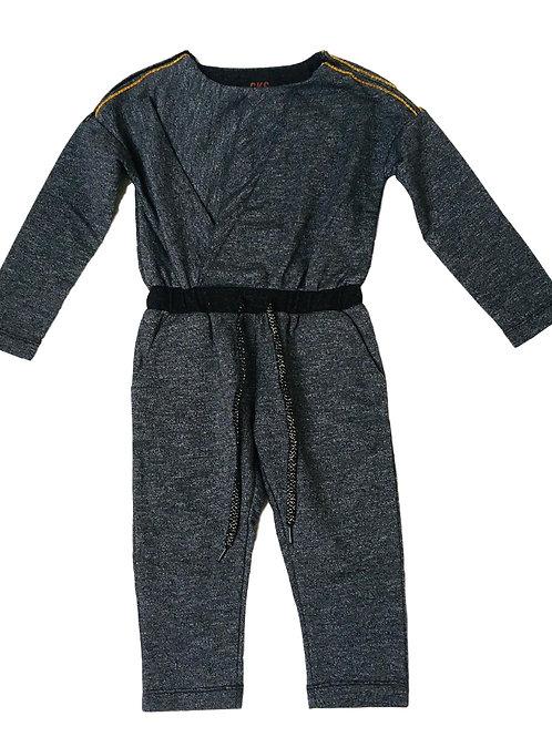 Jumpsuit grijs met gouden detail - CKS (559)
