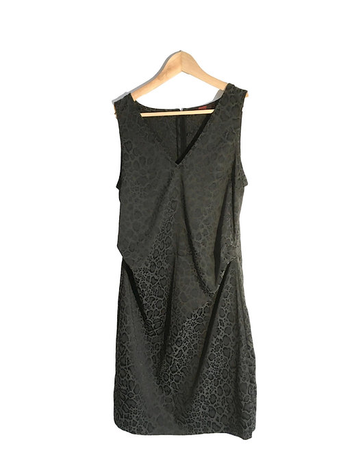 Grijze jurk met print - Fragile (117)