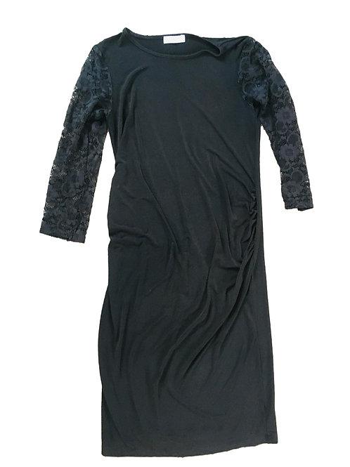 Zwarte jurk met kanten mouwen - Bluebelle (artikel 647)