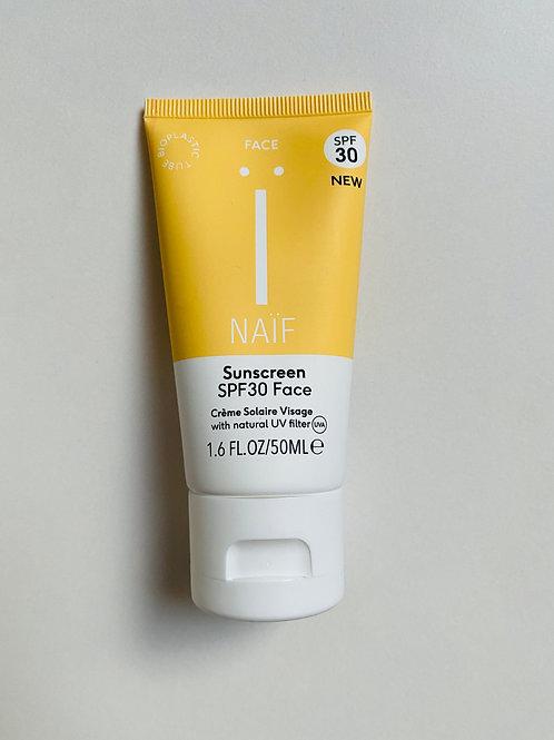 Naïf Natuurlijke zonnebrandcrème - gezicht SPF30