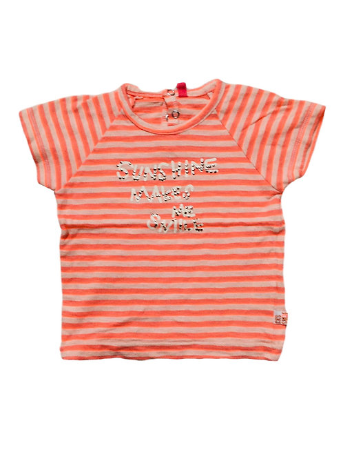 T-shirt licht roze strepen - CKS (528)