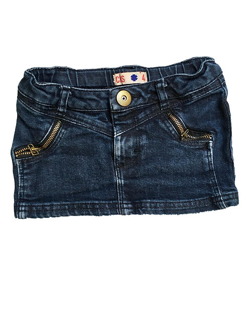 Jeans rok (donker blauw tot zwart)- CKS - 104 (2123)