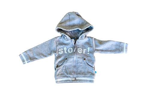 Grijze hoodie met 'stoer - Lief! (94)
