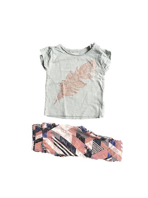Setje t-shirt en broek - Small Rags -  68  (2057)