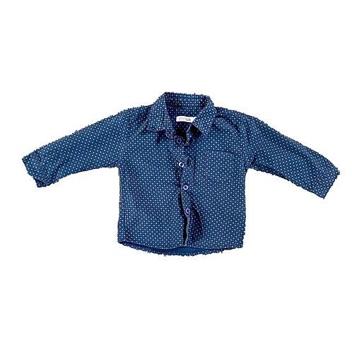 Hemd blauwe print - P'tit filou (913)