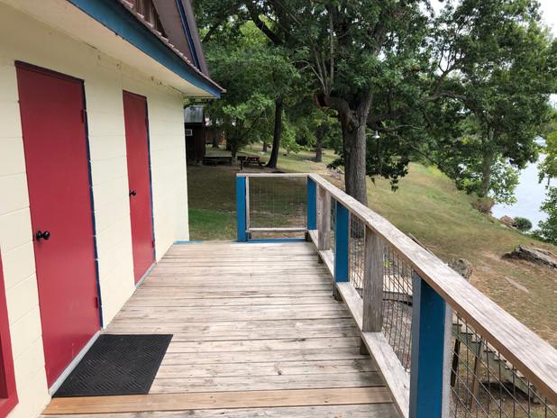 Group Lodge deck.