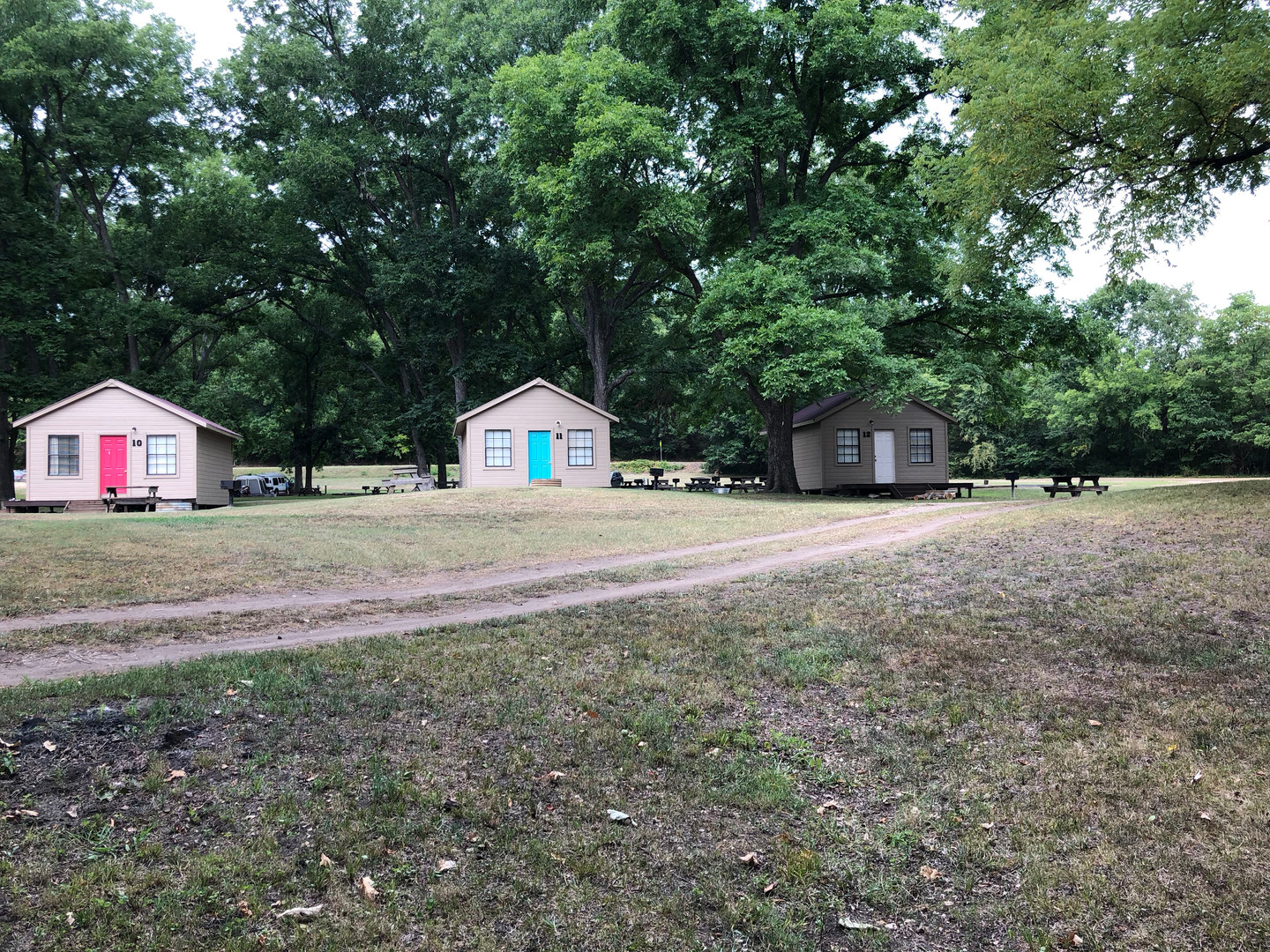 Cabins 10, 11, and 12.