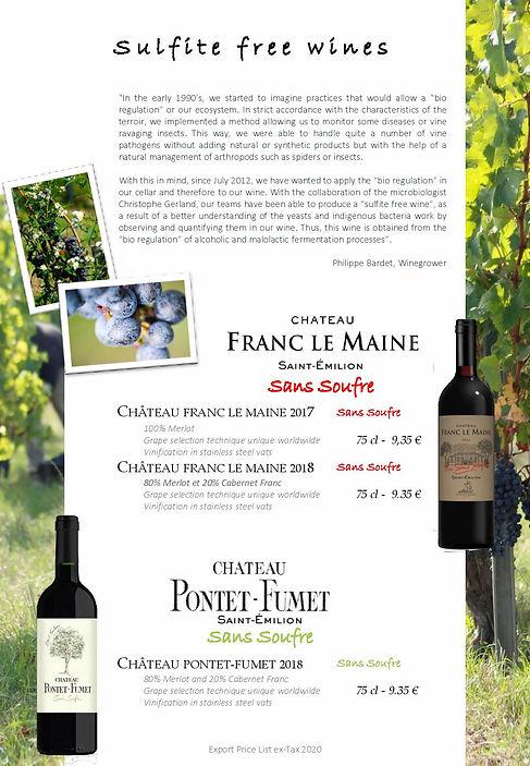 Saint Emilion wine Pontet Fumet & Franc le Maine chateau