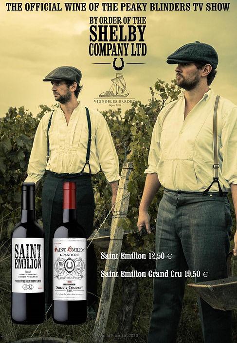 Peaky blinders Saint Emilion wine