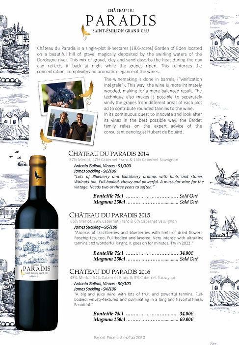 Saint Emilion wine chateau Paradis
