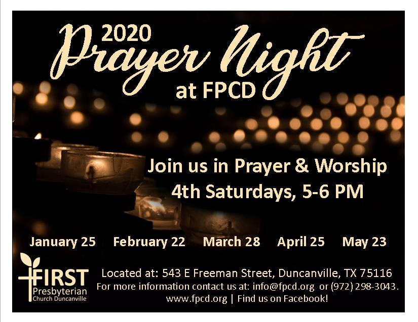 Prayer Night flyers