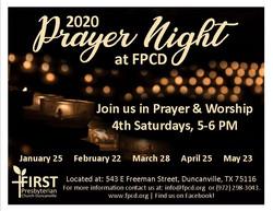 Prayer Night flyers