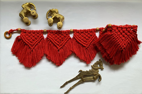 All about Knots - Red Bunting Toran
