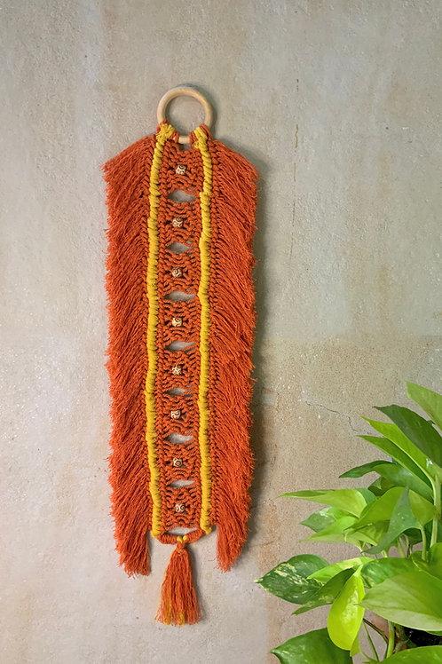 Orange Fringed Barrel hanging