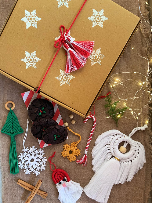 Christmas Ornaments & Cookies -  (Box of 3 ornaments & 2 cookies)