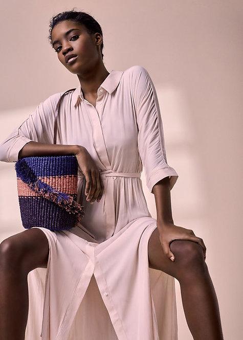 A.A.K.S Hand Crafted - Lamè Ruffle Bucket Bag