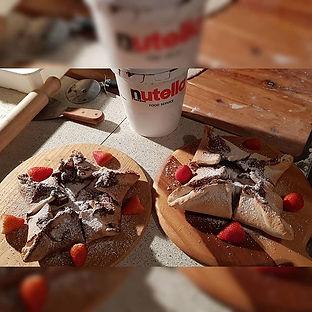 #desserts #dessertpizza #nutella #nutell