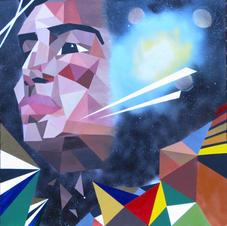 Acrylic on Canvas--Cosmic, Geo, Space Piece--Painting II--17 years old.jpg