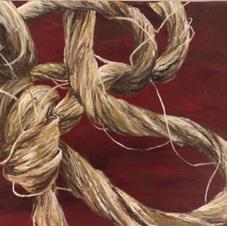 Acrylic on Canvas--Hemp Knot Study--Painting III--18 years old.jpg